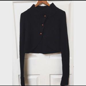Charlie& Robin Anthro Black Wool Cardigan Sweater
